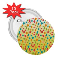 Colorful Balloons Backlground 2.25  Buttons (10 pack)  by TastefulDesigns