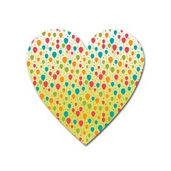 Colorful Balloons Backlground Heart Magnet
