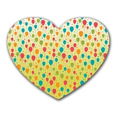 Colorful Balloons Backlground Heart Mousepads by TastefulDesigns