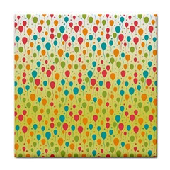Colorful Balloons Backlground Face Towel