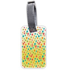 Colorful Balloons Backlground Luggage Tags (one Side)