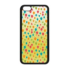 Colorful Balloons Backlground Apple Iphone 5c Seamless Case (black) by TastefulDesigns
