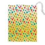 Colorful Balloons Backlground Drawstring Pouches (XXL) Front