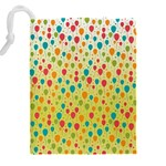 Colorful Balloons Backlground Drawstring Pouches (XXL) Back