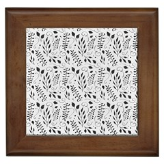 Hand Painted Floral Pattern Framed Tiles