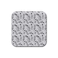 Hand Painted Floral Pattern Rubber Coaster (square)