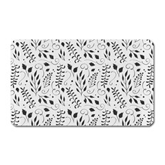 Hand Painted Floral Pattern Magnet (rectangular)