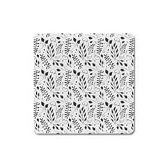 Hand Painted Floral Pattern Square Magnet