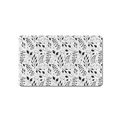 Hand Painted Floral Pattern Magnet (name Card)