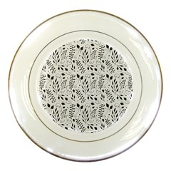 Hand Painted Floral Pattern Porcelain Plates by TastefulDesigns