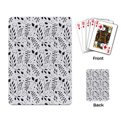 Hand Painted Floral Pattern Playing Card