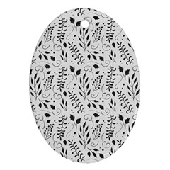 Hand Painted Floral Pattern Oval Ornament (two Sides) by TastefulDesigns