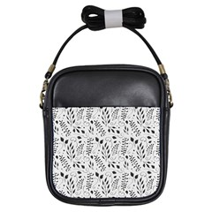 Hand Painted Floral Pattern Girls Sling Bags