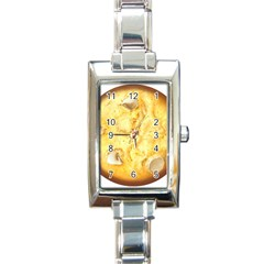 White Chocolate Chip Lemon Cookie Novelty Rectangle Italian Charm Watch
