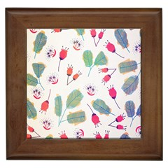 Hand Drawn Flowers Background Framed Tiles