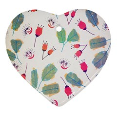 Hand Drawn Flowers Background Ornament (heart)