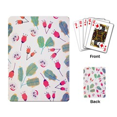 Hand Drawn Flowers Background Playing Card by TastefulDesigns