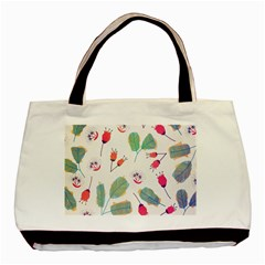 Hand Drawn Flowers Background Basic Tote Bag (two Sides)