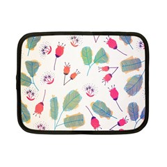 Hand Drawn Flowers Background Netbook Case (small)