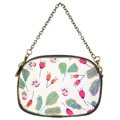 Hand Drawn Flowers Background Chain Purses (two Sides)