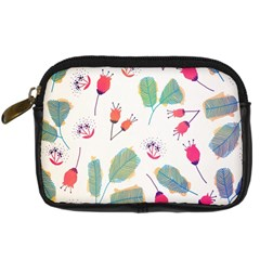 Hand Drawn Flowers Background Digital Camera Cases