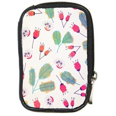 Hand Drawn Flowers Background Compact Camera Cases