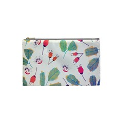 Hand Drawn Flowers Background Cosmetic Bag (small)