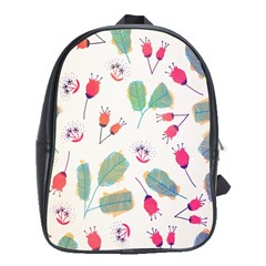 Hand Drawn Flowers Background School Bags(large)