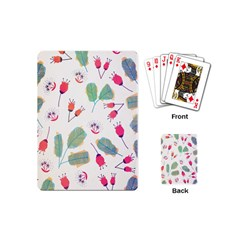 Hand Drawn Flowers Background Playing Cards (mini)  by TastefulDesigns