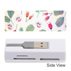 Hand Drawn Flowers Background Memory Card Reader (stick)