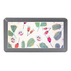 Hand Drawn Flowers Background Memory Card Reader (mini)
