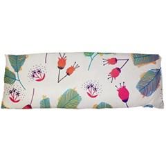 Hand Drawn Flowers Background Body Pillow Case (dakimakura)