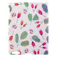 Hand Drawn Flowers Background Apple Ipad 3/4 Hardshell Case