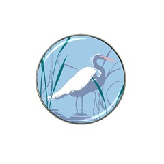 Egret Hat Clip Ball Marker (4 Pack) by WaltCurleeArt