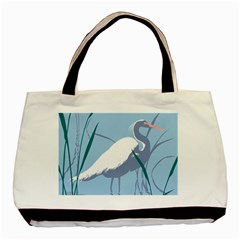 Egret Basic Tote Bag by WaltCurleeArt