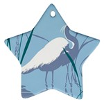 Egret Star Ornament (Two Sides)  Front