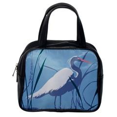 Egret Classic Handbags (one Side) by WaltCurleeArt