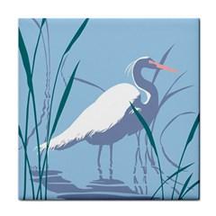 Egret Face Towel by WaltCurleeArt