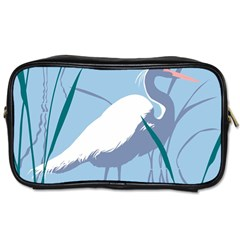 Egret Toiletries Bags 2 Side by WaltCurleeArt