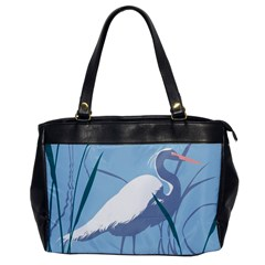 Egret Office Handbags by WaltCurleeArt