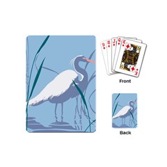 Egret Playing Cards (mini)  by WaltCurleeArt