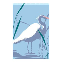 Egret Shower Curtain 48  X 72  (small)  by WaltCurleeArt