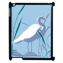 Egret Apple Ipad 2 Case (black) by WaltCurleeArt
