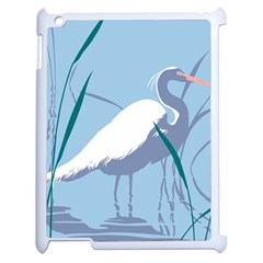 Egret Apple Ipad 2 Case (white) by WaltCurleeArt
