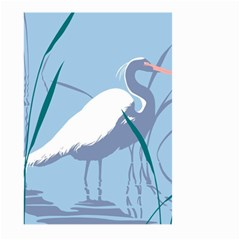 Egret Large Garden Flag (two Sides) by WaltCurleeArt