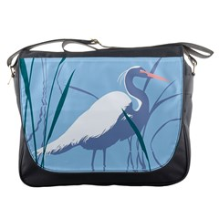 Egret Messenger Bags by WaltCurleeArt