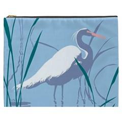 Egret Cosmetic Bag (xxxl)  by WaltCurleeArt