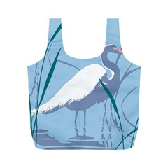 Egret Full Print Recycle Bags (m)  by WaltCurleeArt