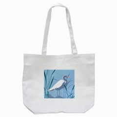 Egret Tote Bag (white) by WaltCurleeArt