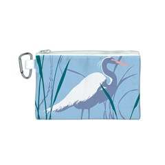Egret Canvas Cosmetic Bag (s) by WaltCurleeArt